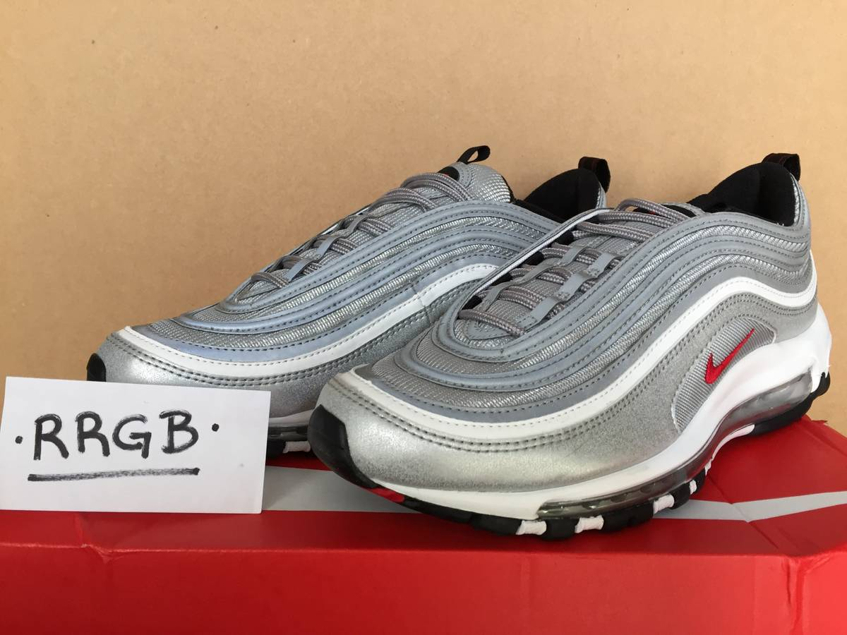 reputable site 884c1 009ce ... free shipping nike air max 97 og qs metallic silver bullet uk 7.5 us  8.5 eu