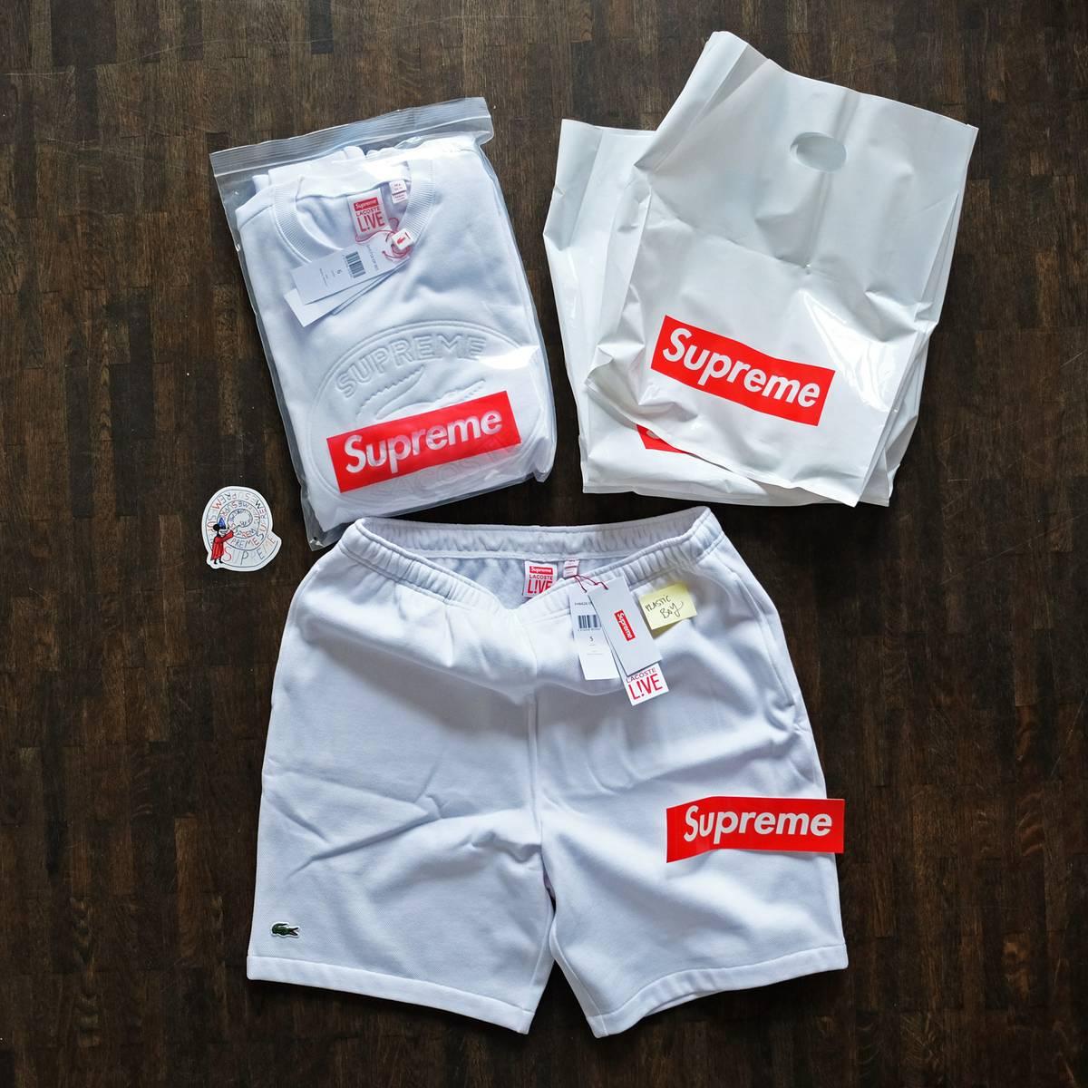 supreme shorts. supreme x lacoste pique short white l large shorts new photo 15