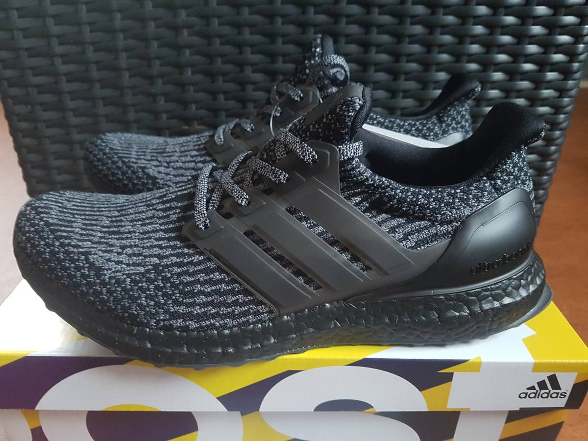 adidas ultra boost 3 0 triple black v2. Black Bedroom Furniture Sets. Home Design Ideas