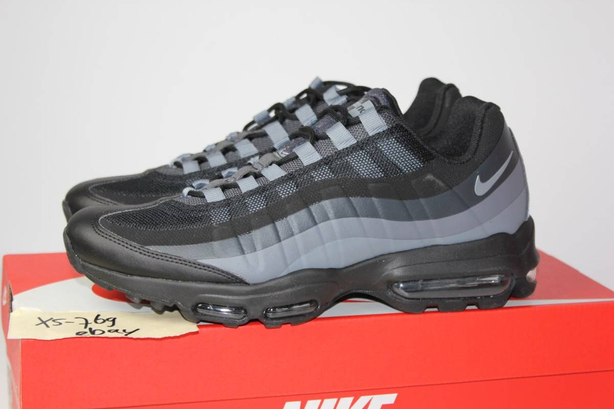 brand new c6c9f 5bf22 ... Nike Air Max 95 Ultra Essential Triple Black Grey NEW 8 9 12 AM95 jcrd  857910 ...
