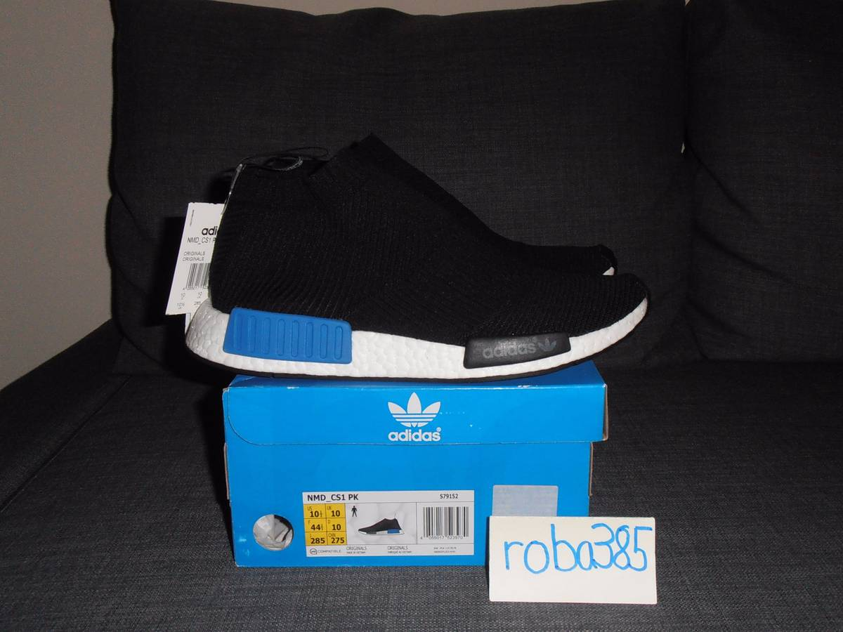 ca2cee689 ... adidas nmd cs1 pk core black lush blue us 10.5 city sock primeknit ...