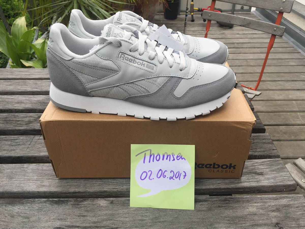 c61c2ecb2f89c4 ... Reebok Classic Leather MO (Skull Grey  Tin Grey  White) - US 9.5 ...