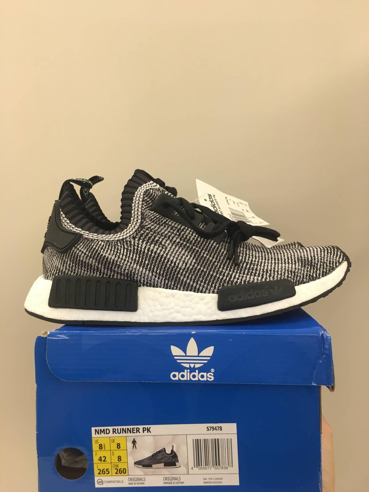 Cheap adidas NMD R1 Glitch Solid Grey White For Sale