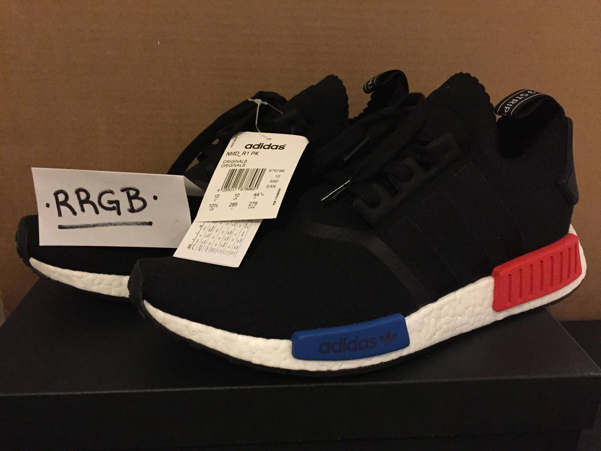 Nmd r1 pk 'og 2017 release' black / white / blue / red Adidas