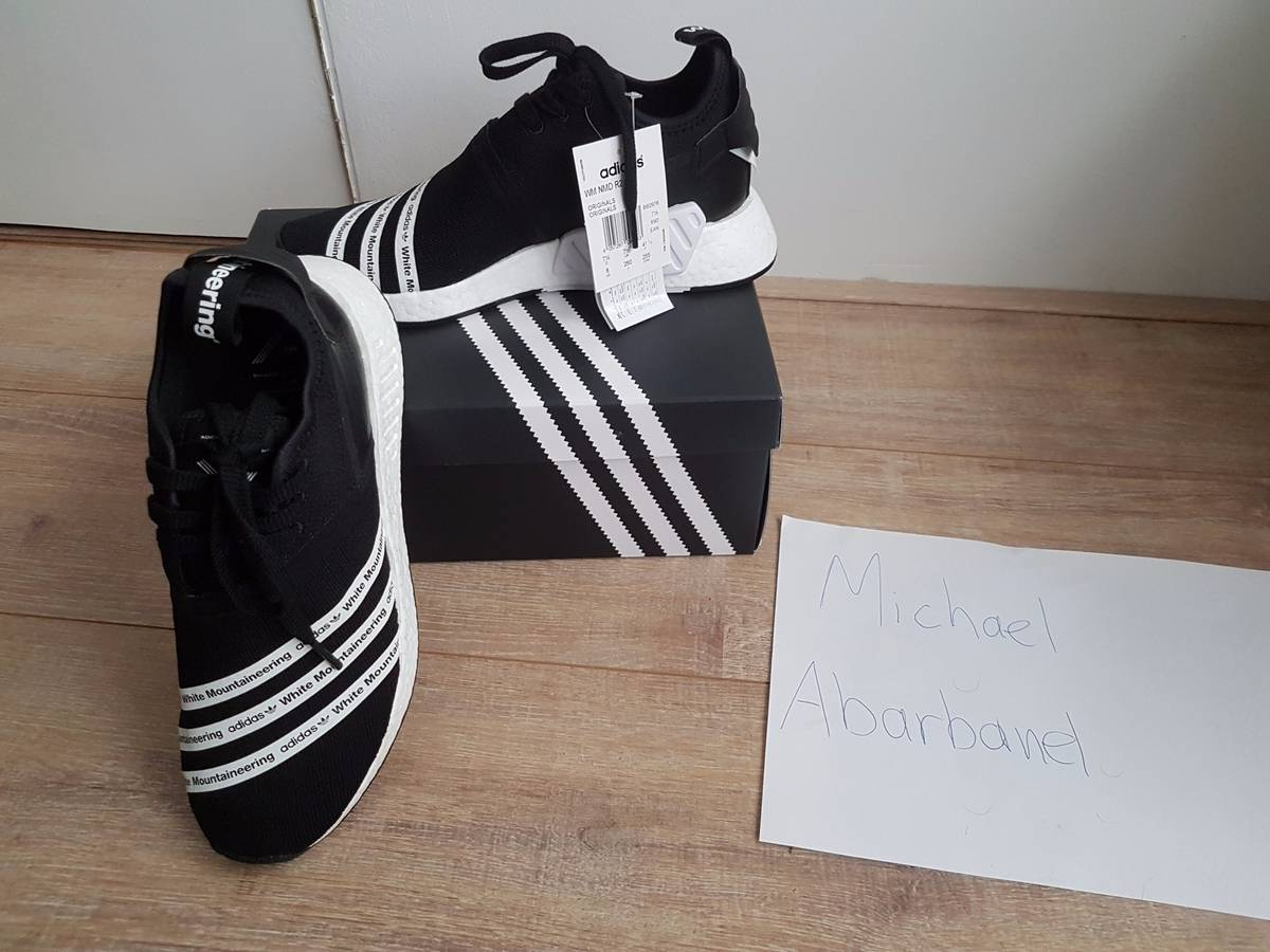 Adidas WM NMD R2 PK White Mountaineering Primeknit Black White