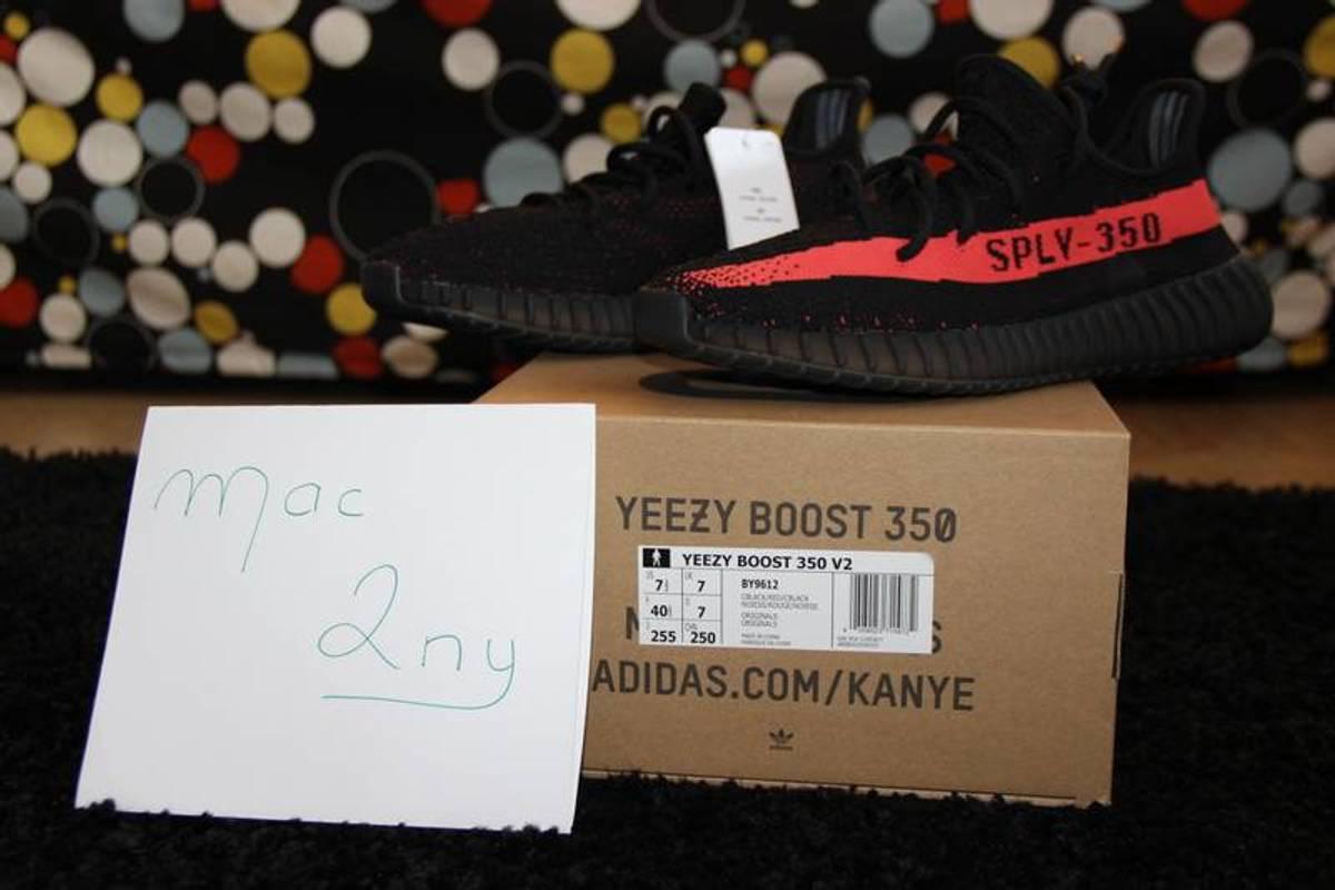 674366d94ad4e ... ebay adidas yeezy boost 350 v2 black red photo 1 7 aad6f 778e9