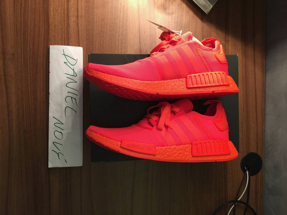 16b84dcaafaf ... us size  adidas nmd r1 solar red size 10 uk