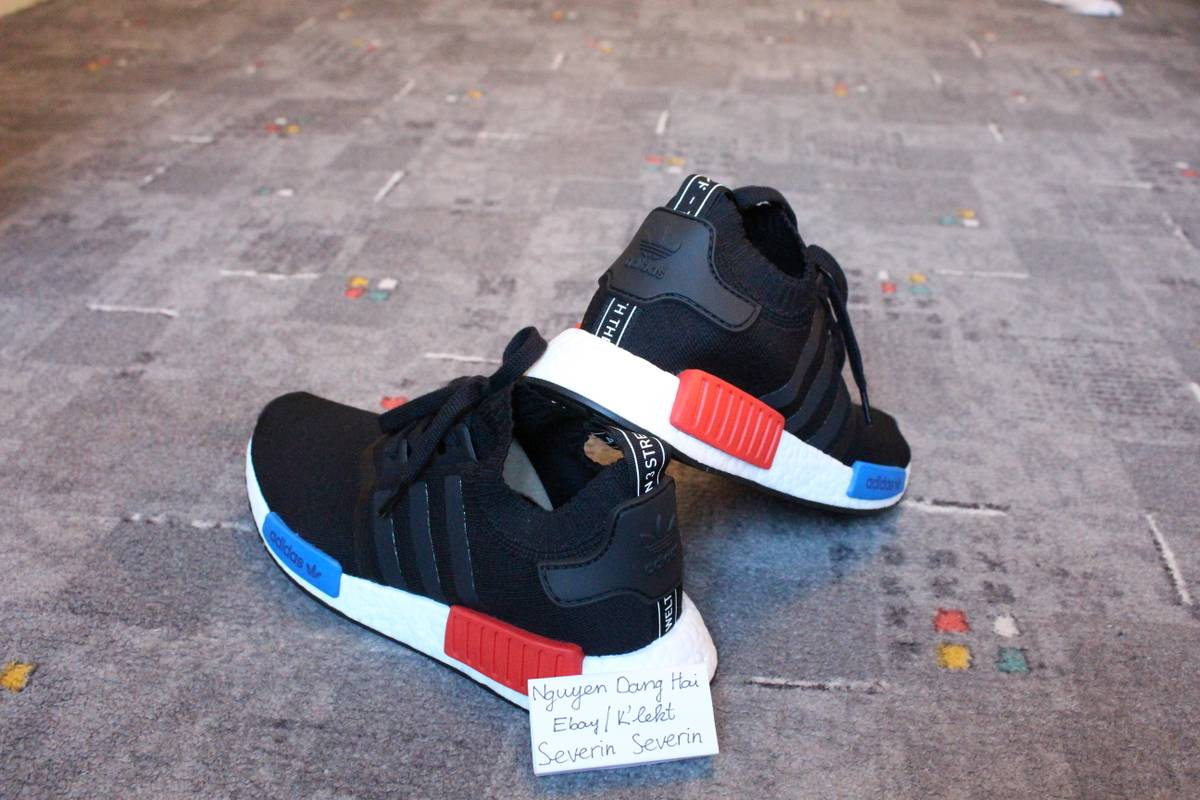 adidas NMD R1 Champs Black 3m Reflective DS Size 12 B39505