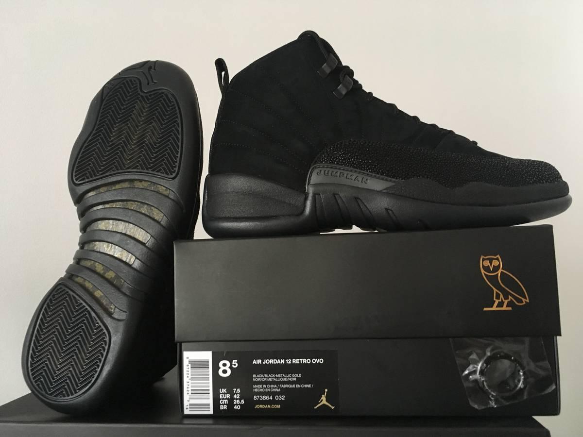 online store 36897 bb6d6 jordan 12 ovo black