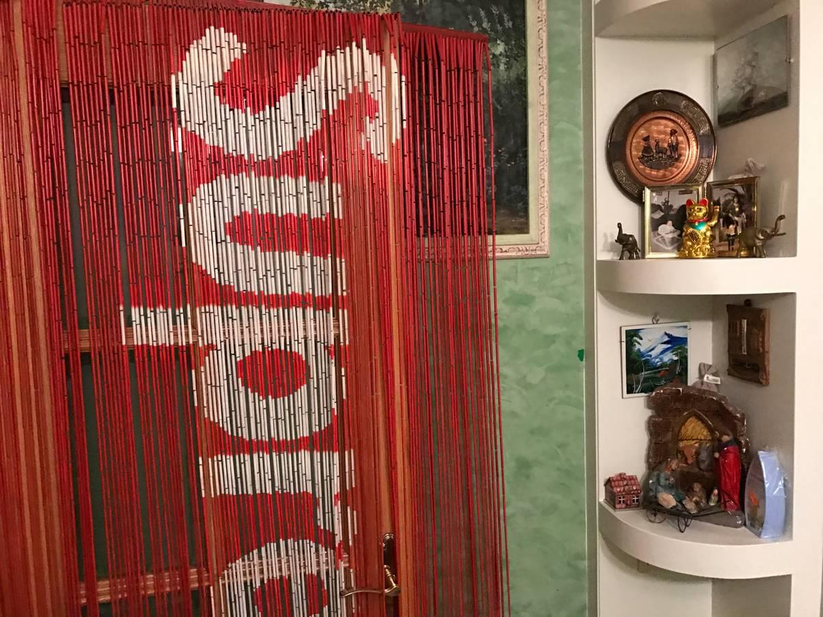 Outdoor bamboo curtain - Supreme Bamboo Beaded Curtain Photo 1 5