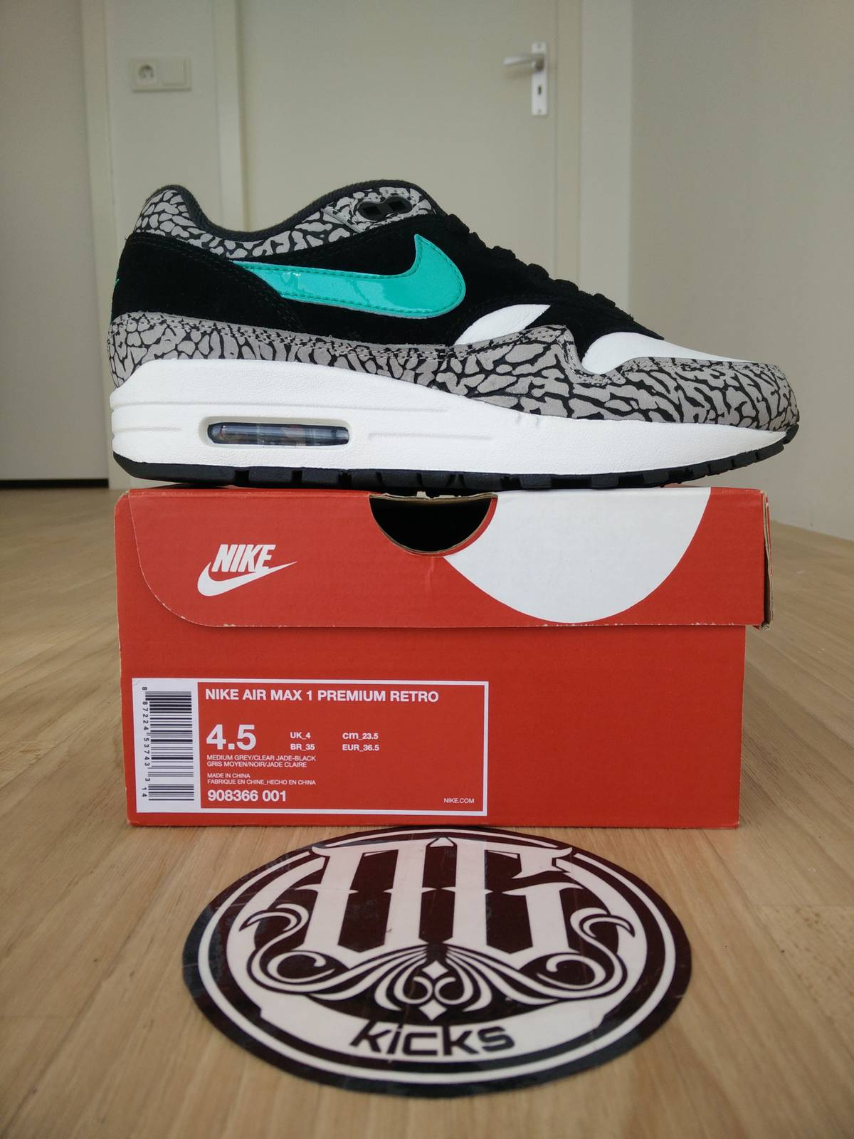 cheap for discount 688df 27046 Nike Air Max 1 Atmos Elephant 2017 Sz us 4.5 - photo 1/8 ...