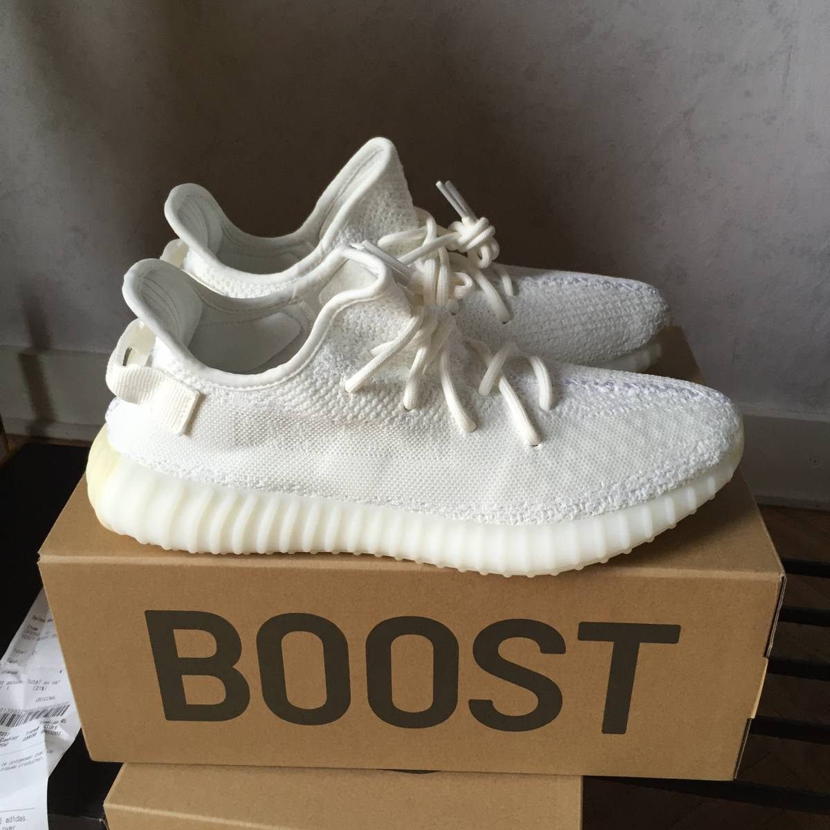 2017 Yeezy boost 350 v2 white red price uk Size 7 Stores