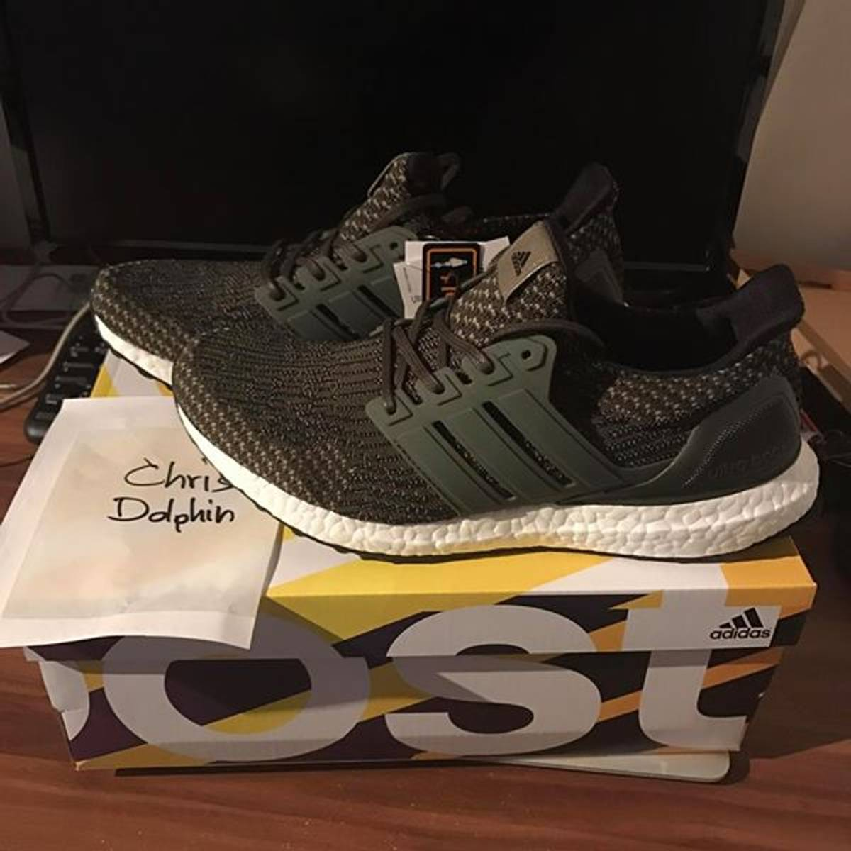 New DS Adidas Ultraboost 3.0 Black BA8842 Size 10