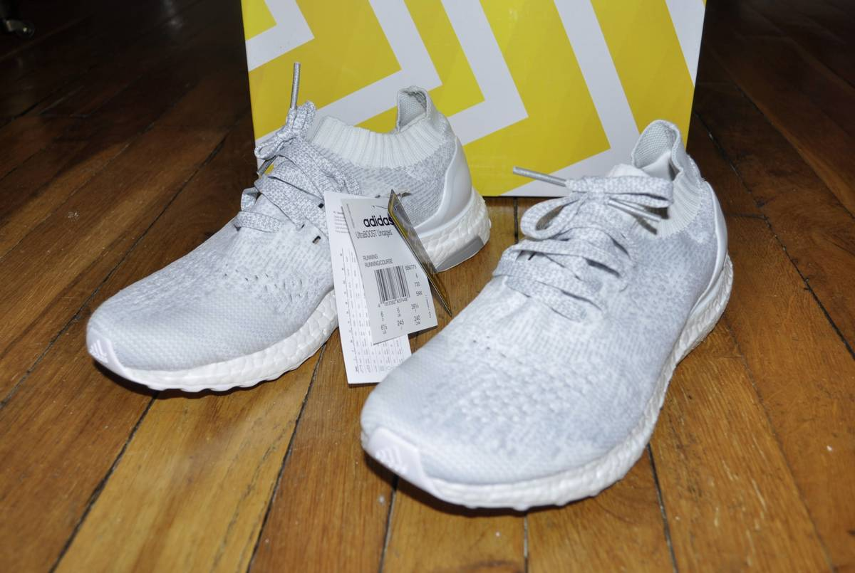 adidas Ultraboost Uncaged M Black White Men Running Shoes