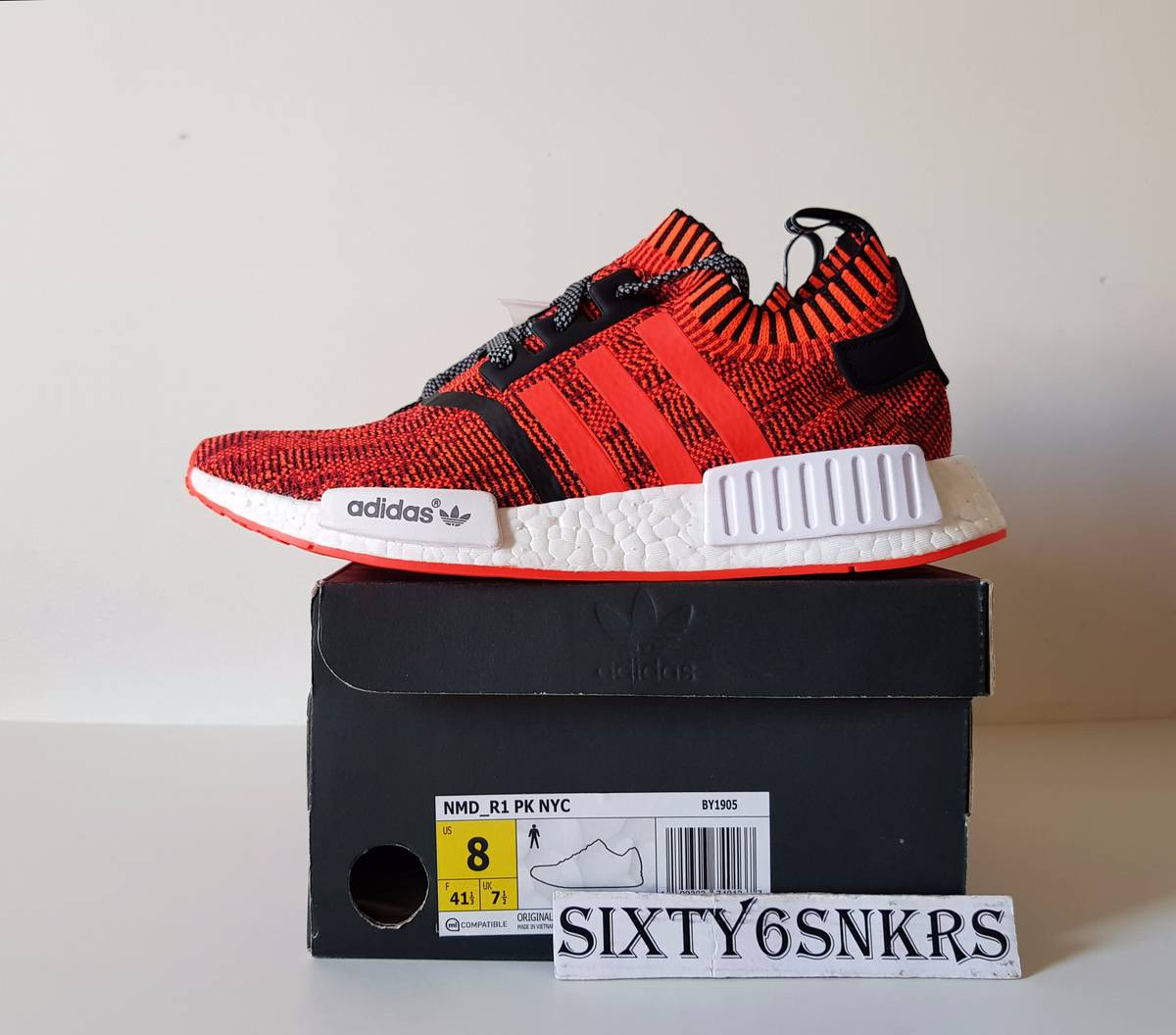 new arrival 809c3 d06fd adidas nmd r1 red apple nyc