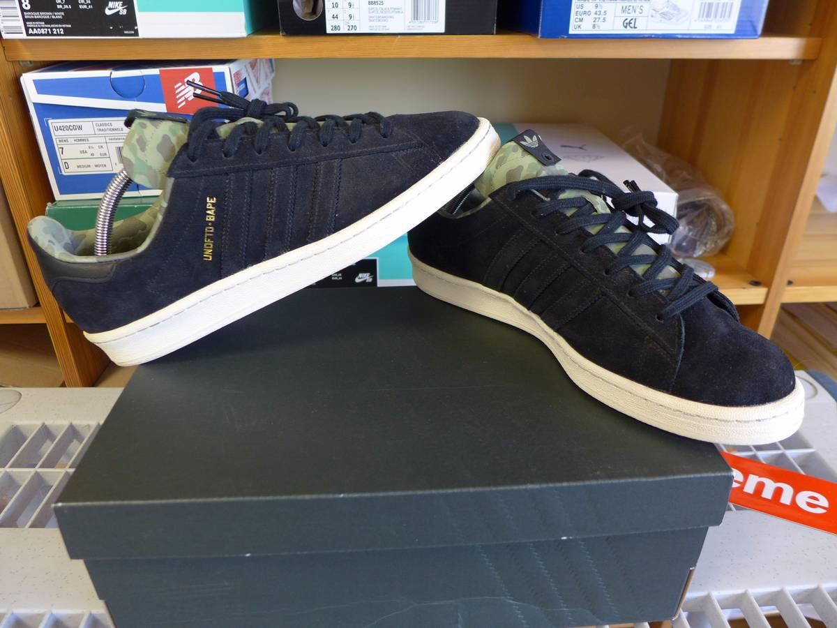 newest 7f025 86f32 ... Adidas Campus 80s Consortium x BAPE x UNDFTD Black Camo Sz. 44 US 10 UK  ...