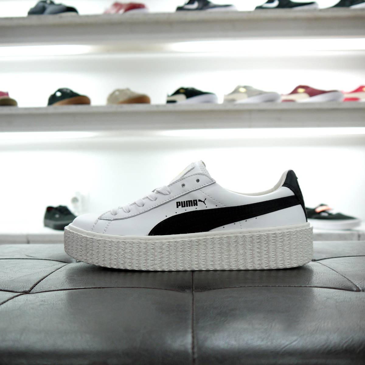new product 63c56 bdcd5 puma creeper white black