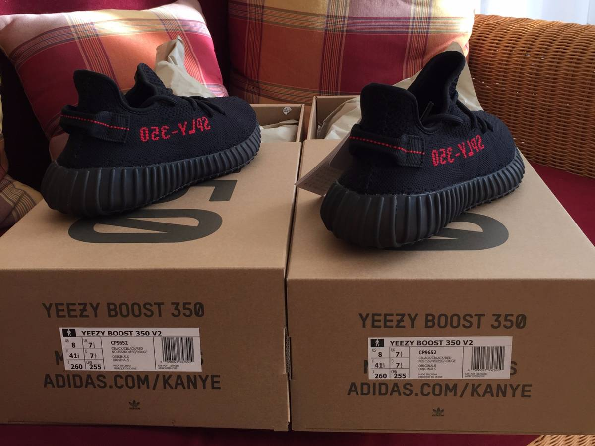Authorized Yeezy boost 350 v2 black and red fake canada March