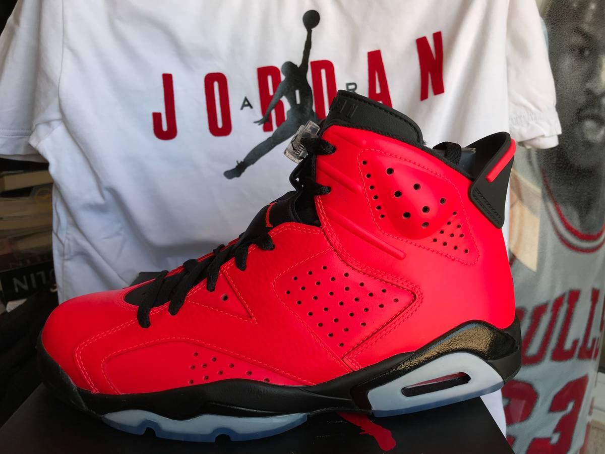 free shipping c0d90 3ddaf ... Nike Air Jordan VI 6 Retro INFRARED 23 BLACK TORO RED OCTOBER 384664-623  NEW