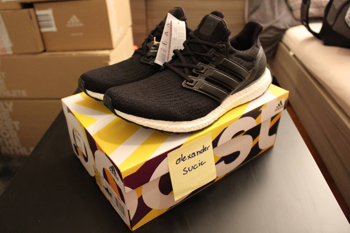 Adidas Ultra Boost 3.0 LTD PK Core Black White Men 8.5 US
