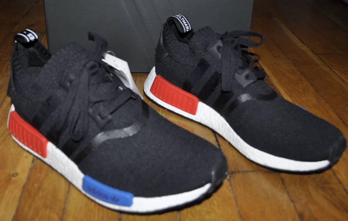 Adidas NMD R1 Primeknit Black OG Release