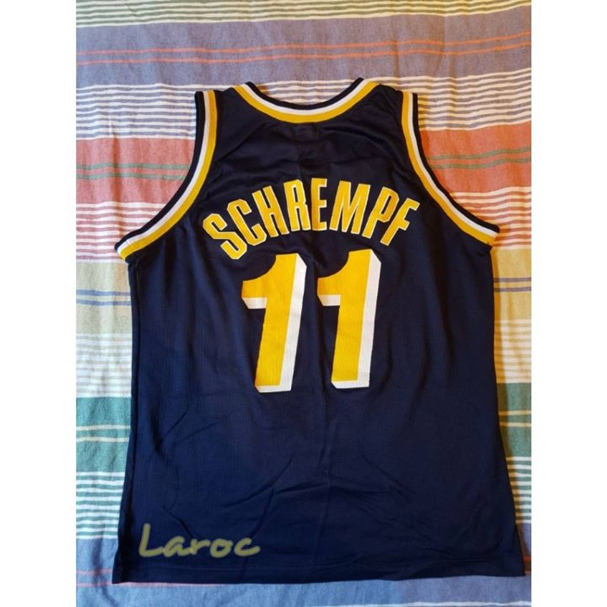 NBA CHAMPION Detlef Schrempf Road Jersey 1991 1992 Indiana
