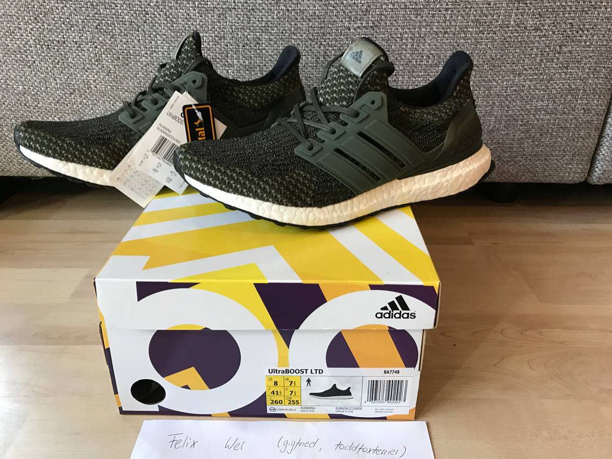 Adidas ultra boost ltd 3.0 trace cargo olive green ba 7748 size