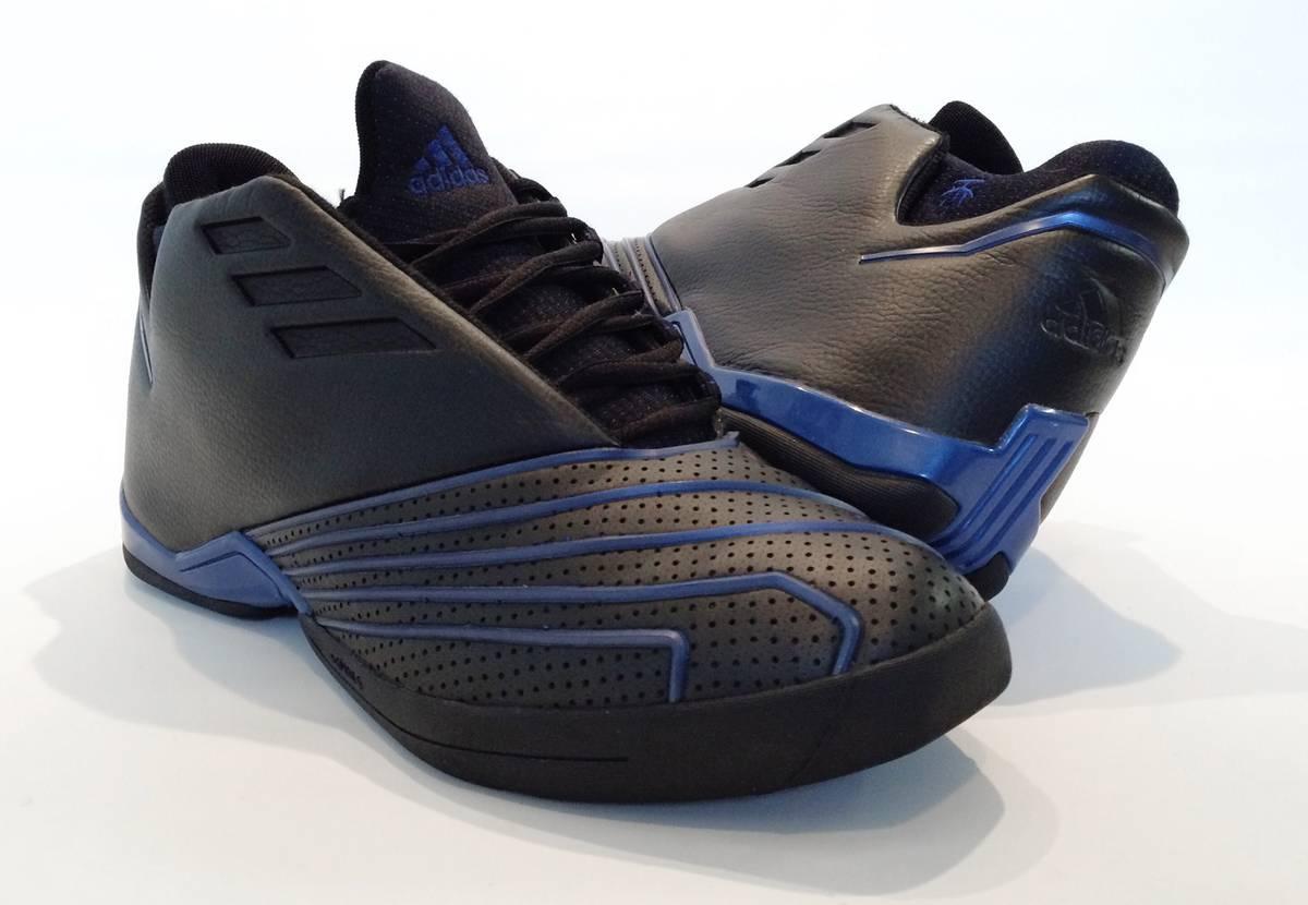 huge discount 6a6dc ee36e adidas t mac 1 black blue