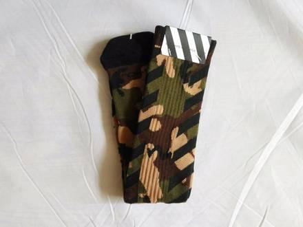 Off-White Virgil Alboh Striped Camouflage Socks - photo 1/5