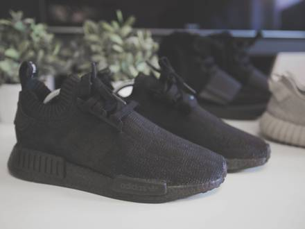 Adidas NMD (Tricolor) Pitch Black Custom - photo 3/6