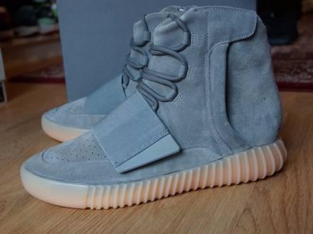 "Adidas Yeezy Boost 750 Grey / Gum ""Glow in the Dark"" - photo 1/8"