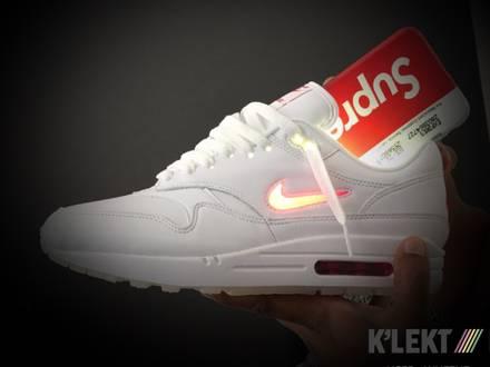 best service d4b4f 3924e Nike Air Max 1 Jewel (White University Red). Menu