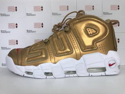 Nike Air More <strong>Uptempo</strong> <strong>Supreme</strong> Suptempo Gold UK 10 US 11 - photo 1/5