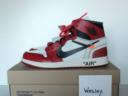 Nike Air Jordan 1 Off-White Chicago Virgil Abloh US.9.5 - photo 1/7