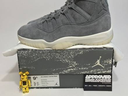 Nike Air Jordan 11 Retro Premium Grey Suede 914433 003 US9.5 43 Concord spacejam DMP columbia 1 2 3 - photo 1/5