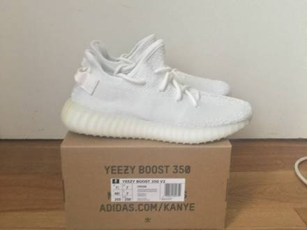 Adidas Yeezy Boost 350 V2 White Cream 4,5,7.5 and 9 Available Supreme Box Logo CDG - photo 1/6