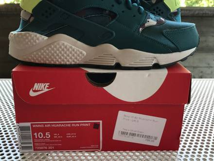 nike wmns air huarache run print ghost green us 10.5 uk 8 eu 42.5 - photo 1/5