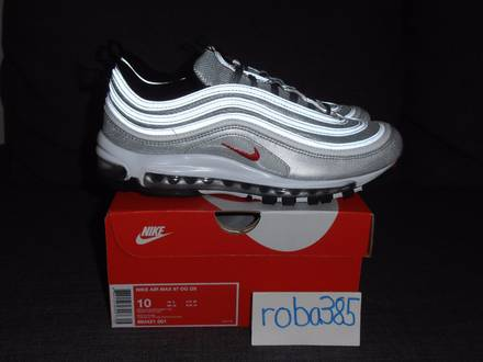 Nike <strong>Air</strong> <strong>Max</strong> <strong>97</strong> OG QS Silver Bullet - US 10 | 1 <strong>gold</strong> blue red - photo 1/8