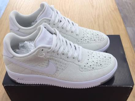 nike air force 1 flyknit full white US8 - photo 1/5