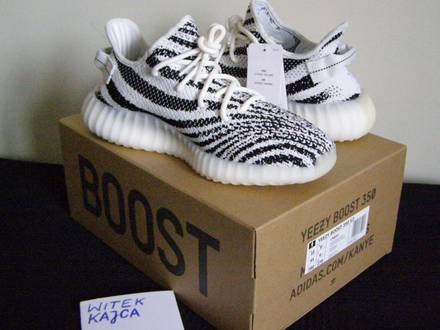 Adidas <strong>Yeezy</strong> Boost 350 v2 <strong>Zebra</strong> UK 9.5 - photo 1/6
