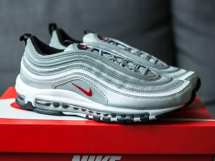 Nike <strong>Air</strong> <strong>Max</strong> <strong>97</strong> <strong>Silver</strong> Bullet US8.5 UK7.5 EUR42 NEW DS - photo 1/6