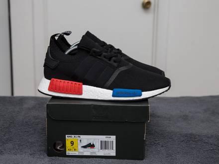 Adidas NMD R1 OG Primeknit Size 9 Brand New yeezy boost black ultra racer pk - photo 1/8
