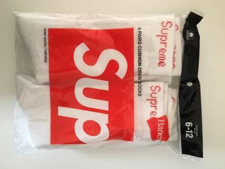 Supreme Crew Socks – One Size – White – 1 pair - photo 1/5