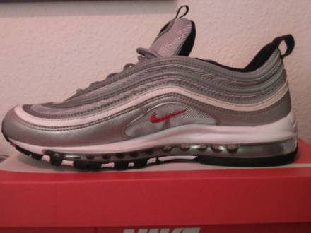 "Nike <strong>Air</strong> <strong>Max</strong> <strong>97</strong> OG QS ""<strong>Silver</strong> Bullet"" Metallic <strong>silver</strong>/Varsity Red Size 10.5 US, 44,5 EUR - photo 1/5"