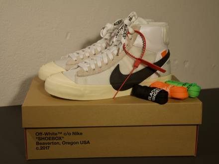 Off-White x Nike 'The Ten' Blazer Mid - US 6.5 - photo 1/8
