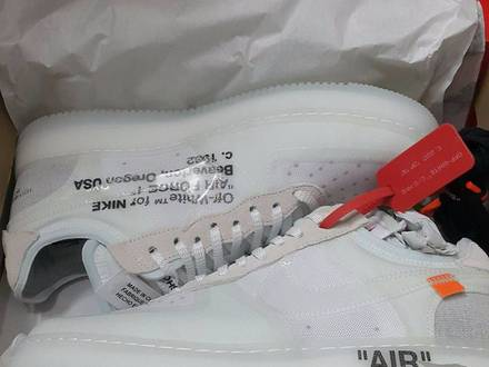 off white nike air force 1 low US 10 virgil abloh yeezy kanye west vetements ronnie fieg - photo 1/5