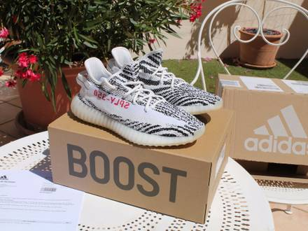 Adidas <strong>Yeezy</strong> Boost 350 V2 - <strong>Zebra</strong> - US 9 - photo 1/8