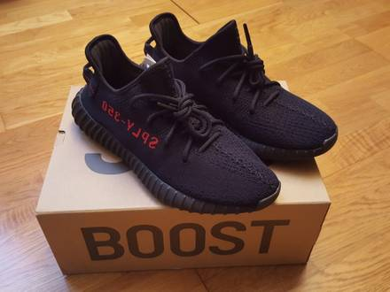 Adidas Yeezy Boost 350 V2 black red size 10 - photo 1/6