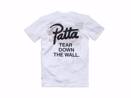 PATTA TEAR DOWN T-SHIRT SZ L WHITE SUPREME PALACE SKATEBOARDS VANS SCRIPT ASICS - photo 1/5
