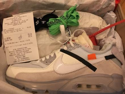 "Nike Off White Virgil ""The Ten"" Air Max 90 - photo 1/5"
